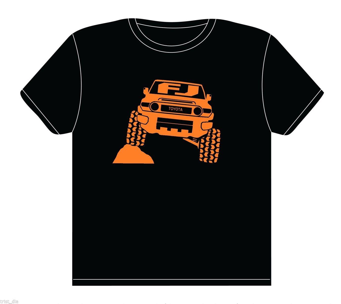 2018 Новый Для мужчин S футболки Для Мужчинs FJ Cruiser 4x4 рок ползать Off Road футболка 100% Хлопковые фирменные носки новые футболки