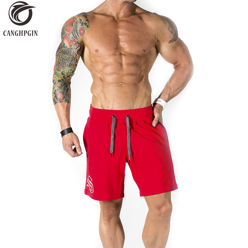 CANGHPGIN Running Shorts Men Jogging Training Crossfit Sweatpants Fitness Compression Short Pants Underwear Gym Sports Shorts