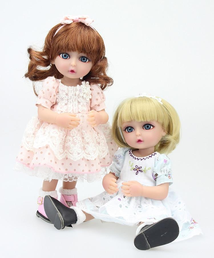 SD/BJD Dolls 10 inches 2016 New Reborn Cute Dolls Babies Realistic Doll Handmade Full Vinyl for Children Gift doll reborn princess18 inches american girl dolls babies realistic doll cute doll handmade full vinyl gift for children