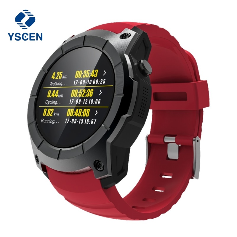 YSCEN Bluetooth S958 GPS Multi-function Sport Watch MTK2503 Heart Rate Monitor Fitness Tracker Smart Watch support Sim card fs08 gps smart watch mtk2503 ip68 waterproof bluetooth 4 0 heart rate fitness tracker multi mode sports monitoring smartwatch