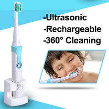 newest 220v IPX7 Rechargeable Electric teeth whitening Toothbrush Ultrasonic oral care vibrator dental Tooth Brush Kid Adult kit