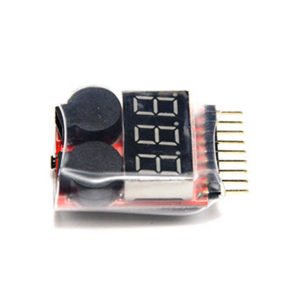 new RC Lipo Battery Low Voltage Alarm 1S-8S Buzzer Indicator  Tester LED Voltage Meters
