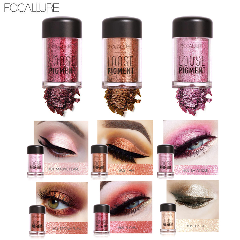 FOCALLURE 12 Color Glitter Eye GlitterCosmetic Makeup Diamond Lips Loose Makeup Eyes Pigment Glitter Diamond Eyes Pigment Powder