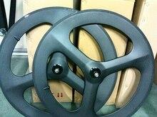 free shipping Carbon wheels 3 spokes 700C Fixed gear wheels Cycling Track wheel bike spoke Bicycle road 3 spoke wheelste