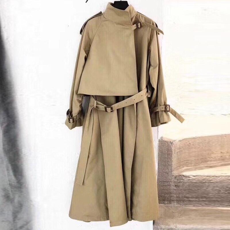 Women   Trench   Coat Spring Autumn 2018 Long Sleeve Coat For Women Fashion Long Coat