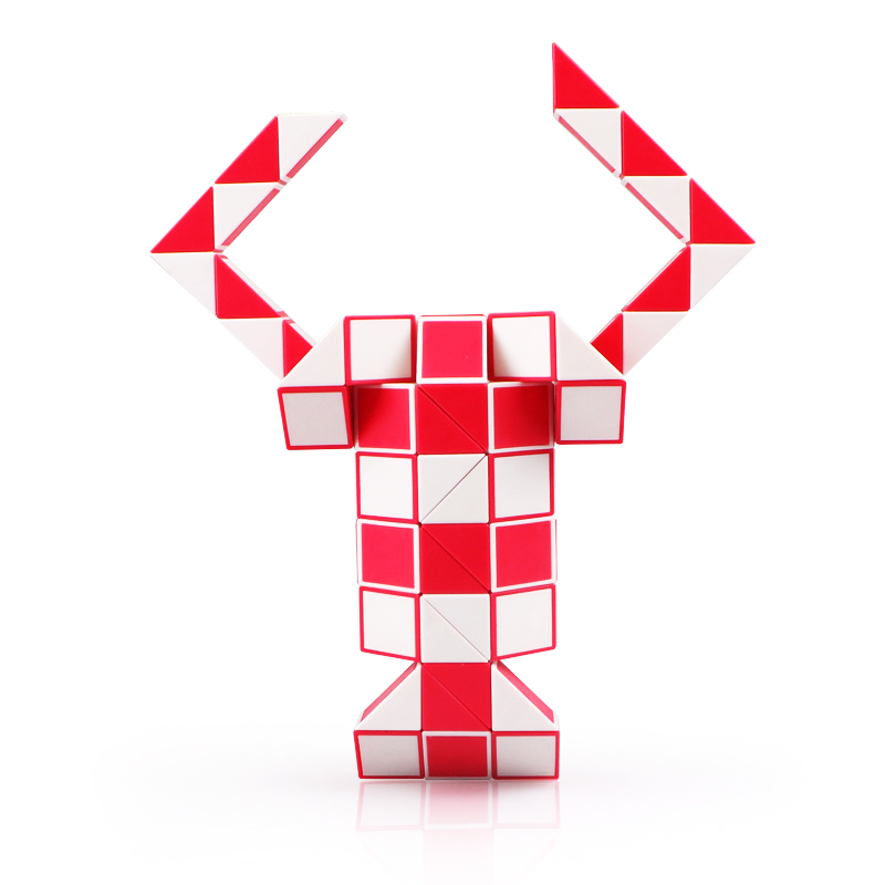 QIYI 24 Blocks Magic Snake Cube 36 Segments Speed Blocks Snake Twist Puzzle 48 Blocks Speed Magic Ruler Christmas Gifts For Kids