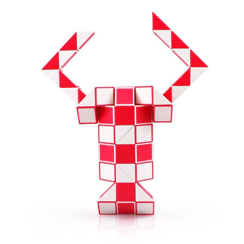 QIYI 24 Blocks Snake Magic Cube 36 Segments Speed Blocks Snake Twist Puzzle 48 Blocks Speed Magic Ruler Christmas Gifts For Kids