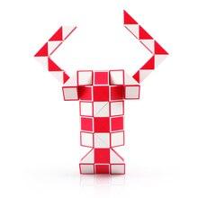 hot deal buy qiyi 24 blocks snake magic cube 36 segments speed blocks snake twist puzzle 48 blocks speed magic ruler christmas gifts for kids