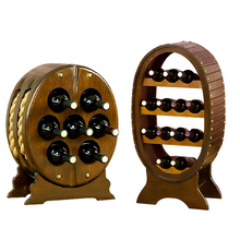 Wine Racks Oak Wine Cabinet Bar Glass Holder Rack Stones for Whisky Stemware Rack Beer Brewing Equipment Stand for Bottles X65(China)