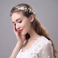 Free Shipping 1pcs Fashion Headwear Wedding Bridal Rhinestone Flower Headpiece Vintage Hair Jewelry Headband Connector RTY004