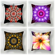Fuwatacchi Floral Style Cushion Cover Multi Color Flowers Printed Pillow Pink Purple Red Decorative Pillows For Sofa Car