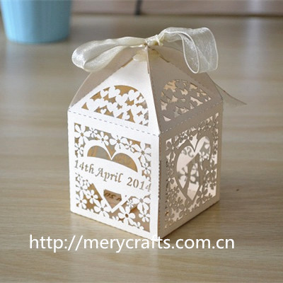 200pcslot laser cut ivory favor box personalized wedding box