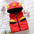 Cartoon Hooded Waistcoat Kids Warm Vest Boys Girls Outerwear Zipper Coat Child Autumn Winter Clothes Outfits Kids Waistcoats