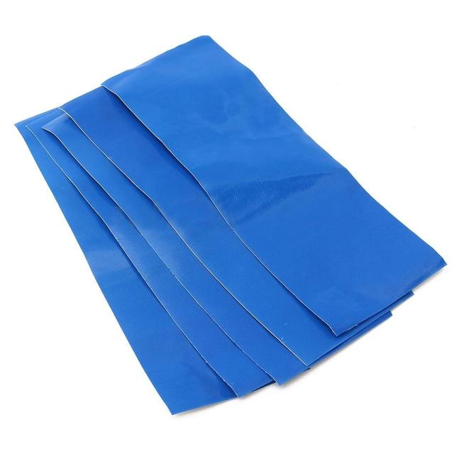 Mayitr 5PCS/set Green Blue Awning Tent Tarpaulin Canvas Canopy Waterproof Adhesive Repair Tape Patches Tent Repair Accessories