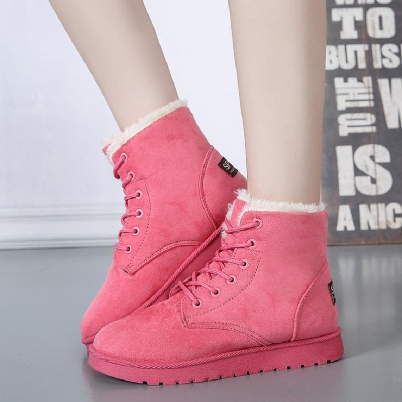 Women Winter Snow Shoes Casual Boots Cotton Warm Soft Classic Ankle Boots Eight Color Solid Female Footwear Shoes 2017 BDT903 spring autumn boots women soft footwear classic boots female comfortable outdoor shoes aa20131