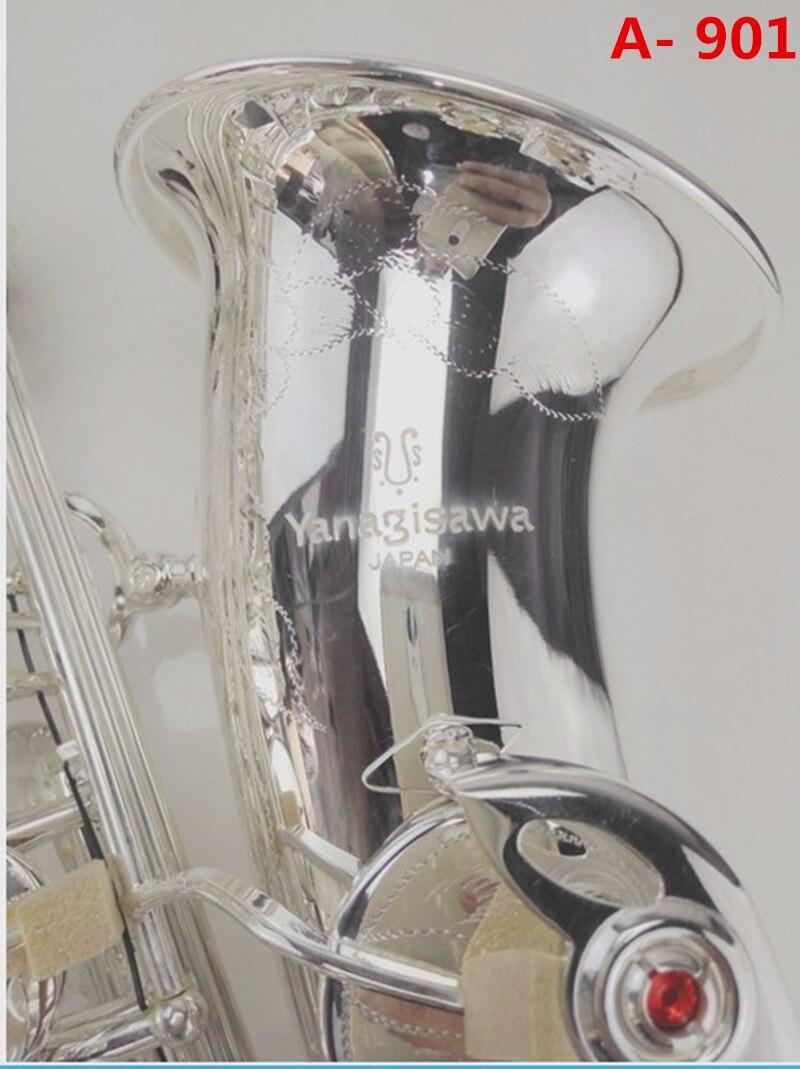 Haute qualité Japon sax alto yanagisawa A-901 Eb Argent plaqué alto saxophone instrument de musique professionnel performance