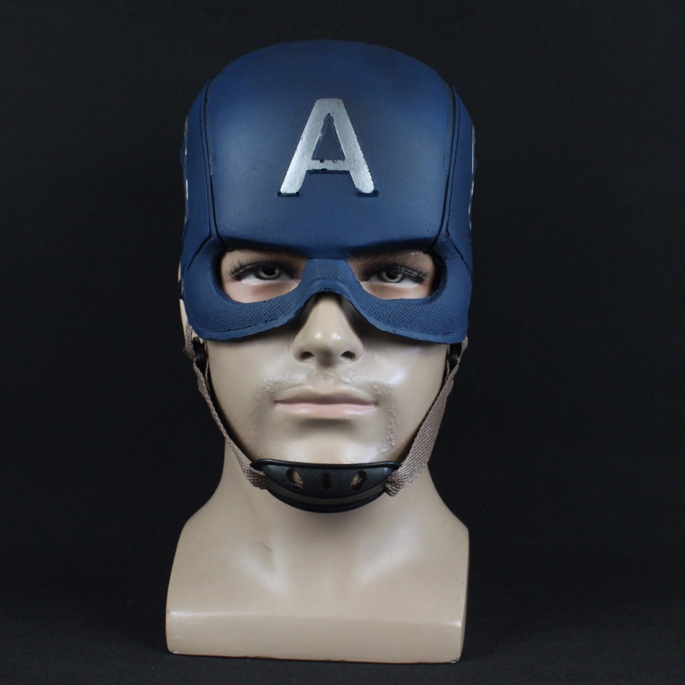 Captain America Mask Avengers Infinity War Cosplay Superhero PU Masks Helmet Halloween Party Props