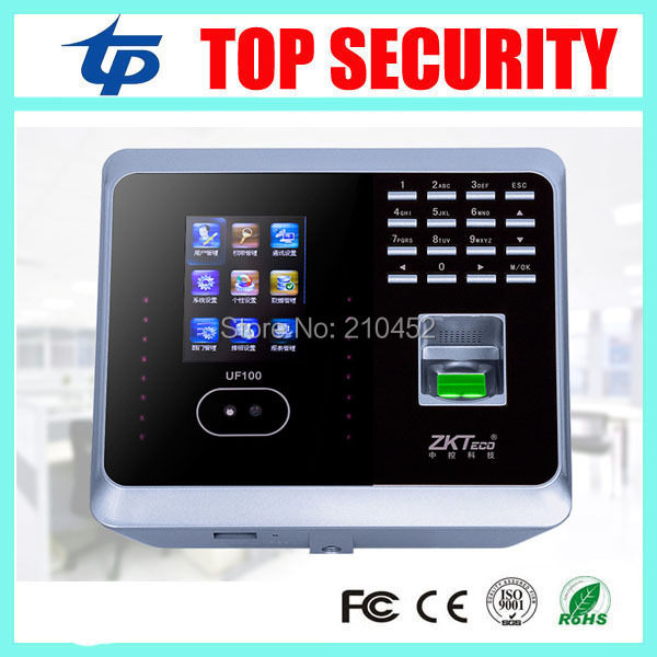 DHL free shipping ZK UF100Plus face recognition time attendance system with fingerprint reader TCP/IP WIFI facial time clock  цены