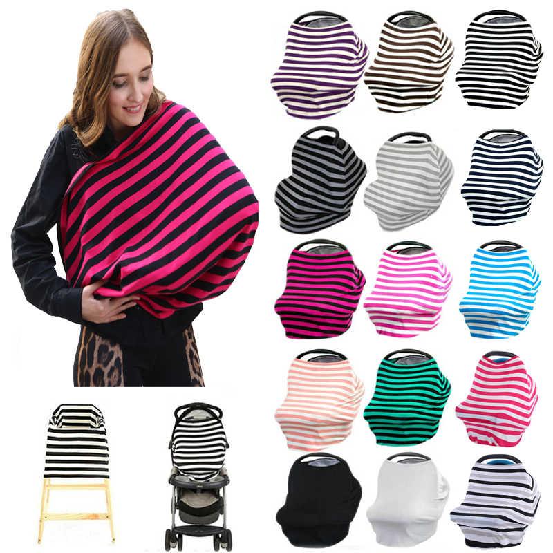 Новорожденный шарф для кормления грудью Многофункциональный 5 в 1 чехол для детской коляски высокий стул крышка полосатый детское сиденье закрывающий полог