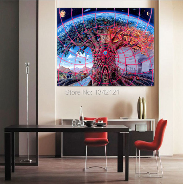 Modern Wall Art Trippy Alex Grey Painting On Canvas Canvas Prints Painting  Pictures Decor For Living