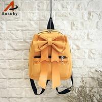 Moda Güzel süper papyon mini sırt çantası rahat tiki deri Siyah Sırt Kadın Kız okul Çantaları Bayanlar Backpack-30