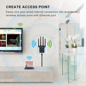 Image 3 - Comfast cf CF WR754AC 1200 150mbps のワイヤレス無線 lan エクステンダリピータ/ルータ/ap デュアルバンド 2.4 & 5.8 ghz 4 アンテナ長距離信号アンプ