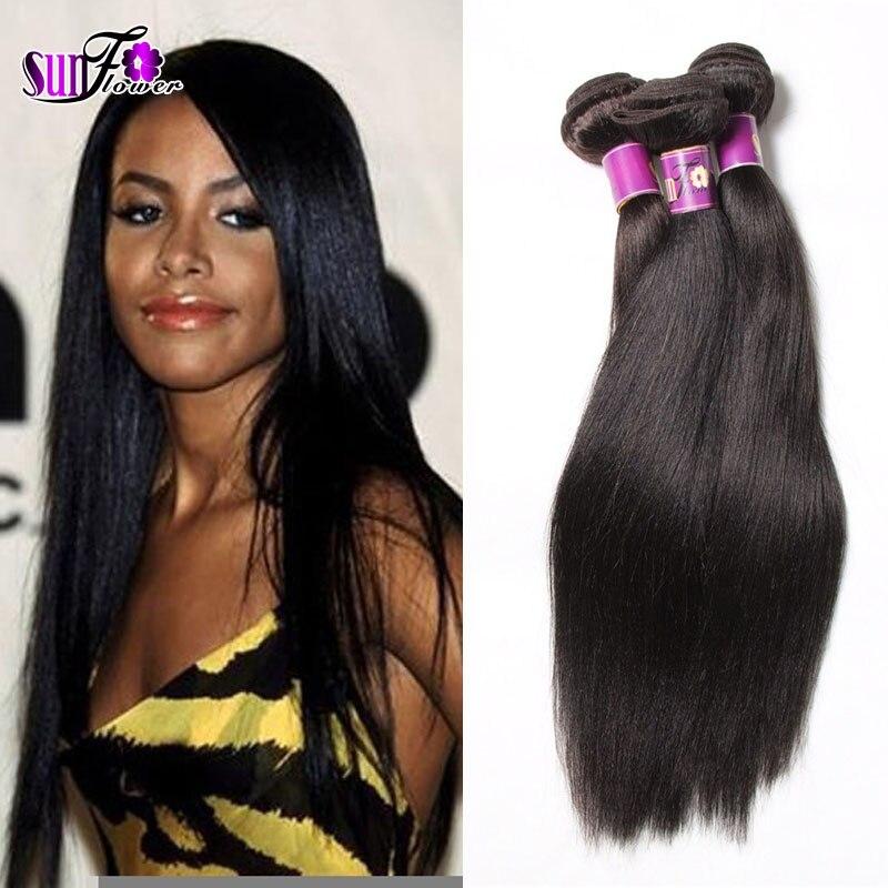 Günstige Licht yaki gerade brasilianische reine haarwebart bundles 6A 2 bundles deal italienische yaki brasilianisches gerade menschenhaar spinnt