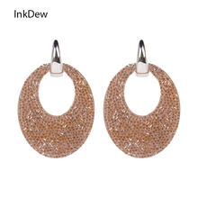 INKDEW New Arrival Trendy Design Water Drop Earrings for Women Long Big vintage bohemian Statement