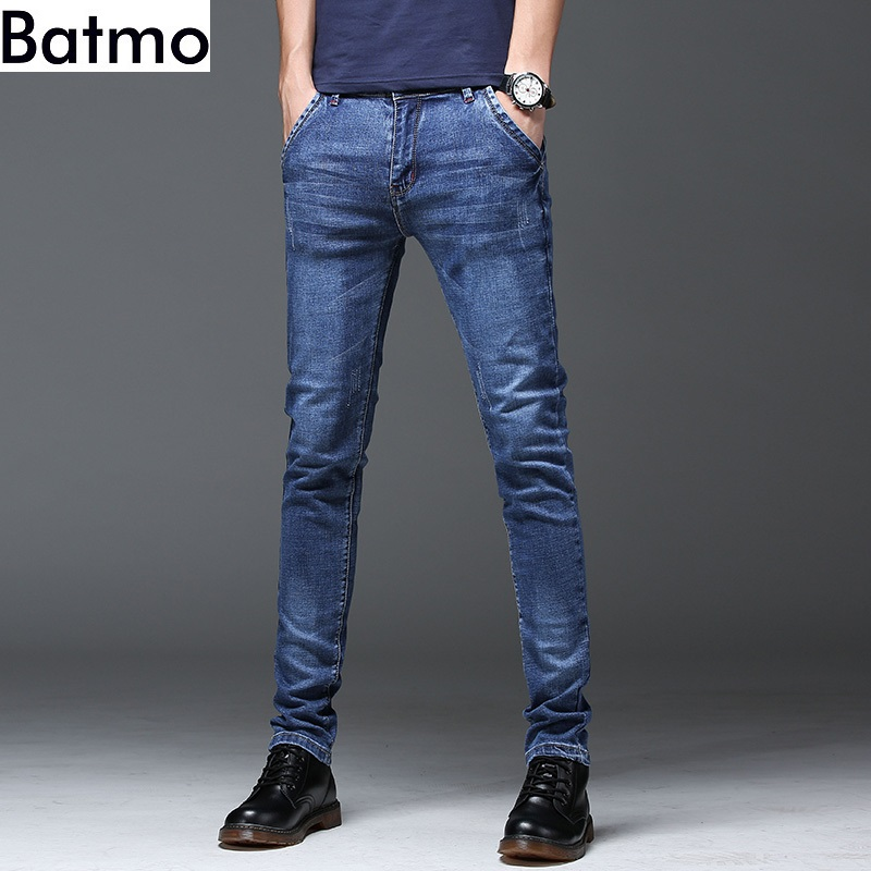 Batmo 2019 new arrival high quality casual slim   jeans   men ,men's pencil pants ,skinny   jeans   men Z005