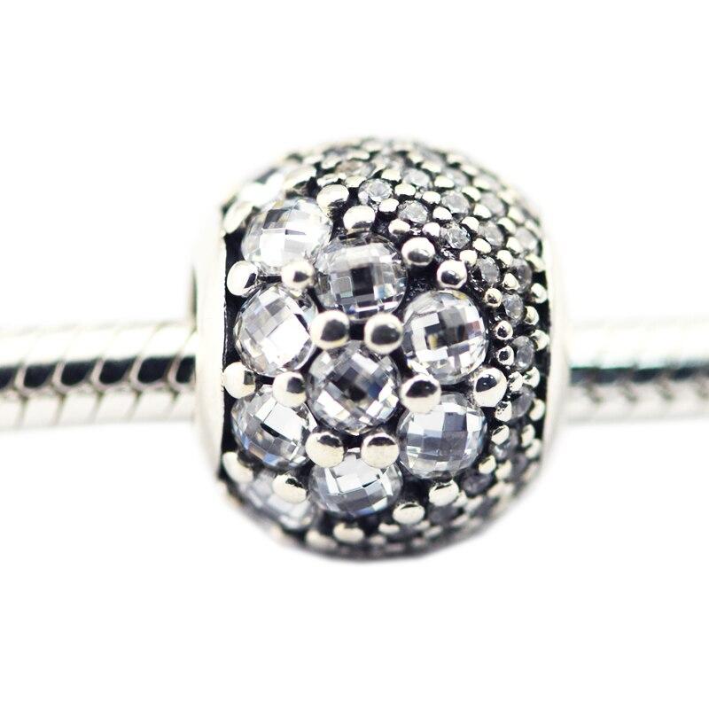 Pandulaso Spring Enchanted Clear CZ Crystal Beads for Jewelry Making Women Fashion Silver 925 Jewelry Fit DIY Original Bracelets