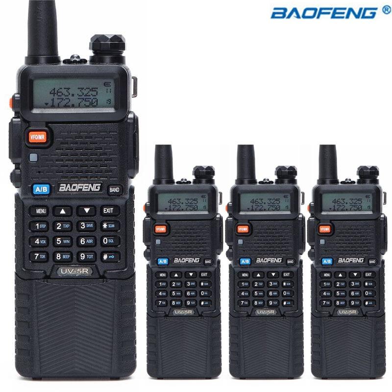 4PCS Baofeng UV 5R with 3800mAh long Li ion Battery Walkie Talkie Dual Band VHF UHF