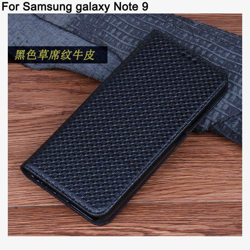 6.4 pollici posteriore Del Cuoio Genuino della copertura di caso Per Samsung galaxy Note 9 coque capas di caso di vibrazione della copertura di shell FFor Samsung galaxy Note9