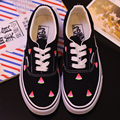 2017 Spring Men Shoes Hot Sales Harajuku Vintage Personality Soft Low Female Hand Painted Canvas Shoes Casual More Free Shipping