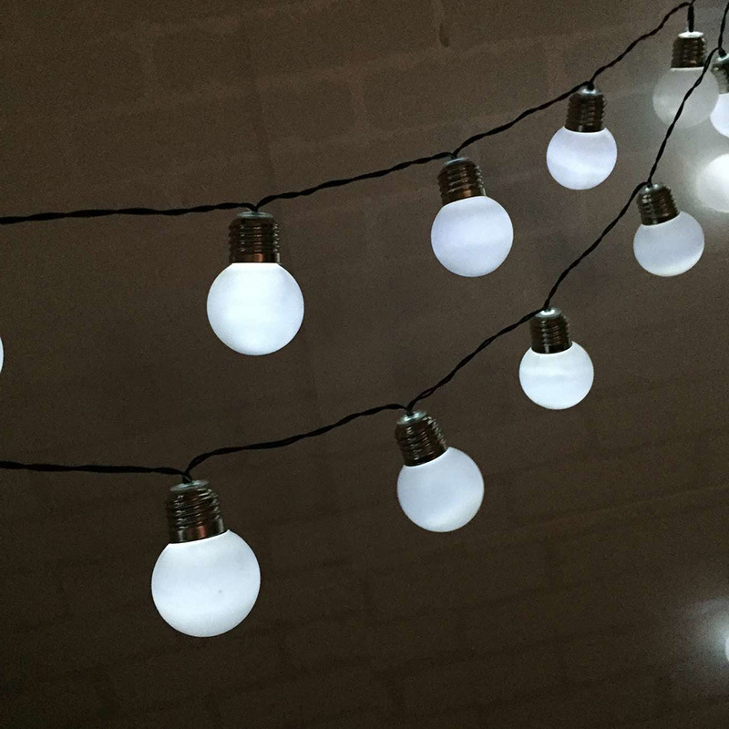 Outdoor Solar String Lights Bulb Strip 3.5M 10Bulbs Solar Globe String  Lights Decorative Garden Patio