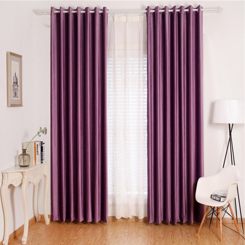 Readymade modern blackout flannel shower curtains for living room ...