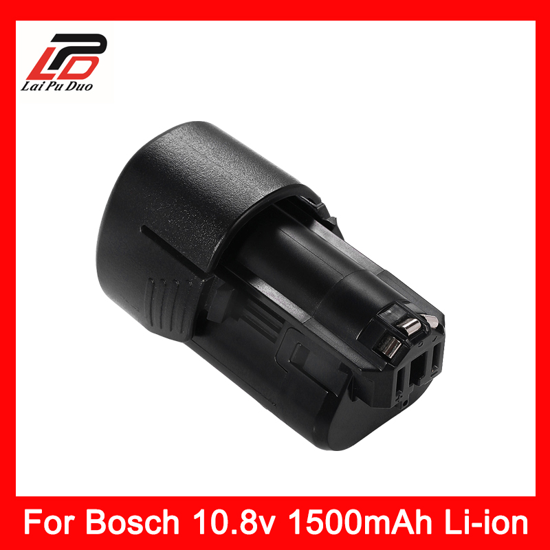 10.8V 1.5Ah Li-Ion Replacement Power Tool Battery For Bosch BAT411 BAT411A BAT412 BAT412A BAT413 BAT413A BAT414 D-70745 tool accessory electrical drill li ion battery charger for bosch 10 8v 12v power tool li ion battery bc430 bat411 bat412 bat413