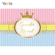 Yeele Baby Shower Newborn Photocall Stripes Crown Photography Backdrop Personalized Photographic Backgrounds For Photo Studio