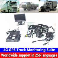 AHD 4CH hd video Monitoring 4G GPS Truck Monitoring Suite coaxial hd pixel remote Monitoring h. 264 wide voltage PAL/NTSC system Surveillance System     -