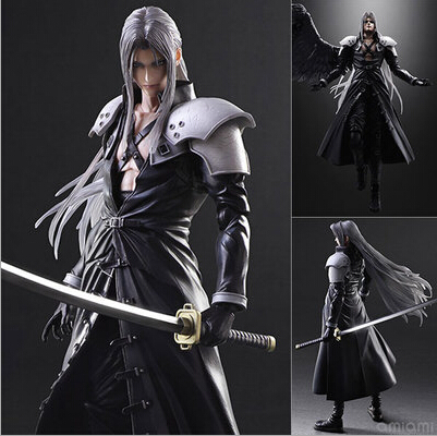 ФОТО NEW hot 28cm Final Fantasy VII Sephiroth collectors action figure toys Christmas gift doll with box