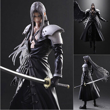 NEW hot 28cm Final Fantasy VII Sephiroth collectors action figure toys Christmas gift doll with box