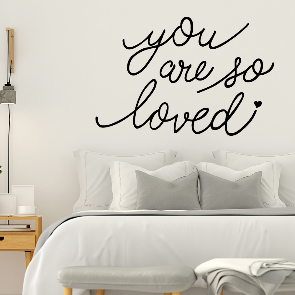 Cartoon Style English Sentences Decal Removable Vinyl Mural Poster For Kitchen Restaurant Background Wall Art