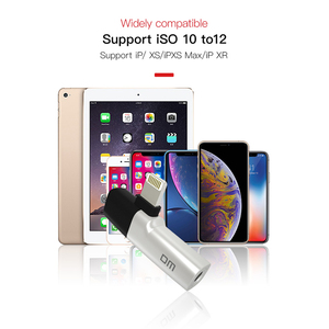 Image 5 - DM 018 Audio Aux Adapter For iPhone Xs Max Xr X 8 7 Plus Earphone Headphone Connector OTG Cable For Lightning Splitter Converter
