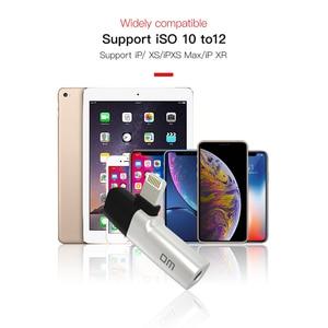 Image 5 - Dm 018 iphone xs 용 오디오 aux 어댑터 max xr x 8 7 plus 이어폰 헤드폰 커넥터 번개 분배기 변환기 용 otg 케이블