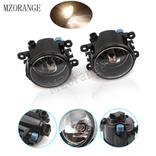 Fog Lamp Assembly 2Pcs Left and Right Fog Light Fog Lamp 55W For Dacia Duster Logan Sandero 2004-2015 Halogen Fog Lights beler 2pcs right left fog light lamp with h11 halogen 55w bulb assembly for nissan cube juke murano infiniti ex35 ex37 qx50