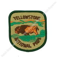 "Wandelen Reizen Souvenir Patch ""Yellowstone National Park"" Wyoming Bison Kleding Stickers Motif Applique Kleding Ijzer Op Badge(China)"