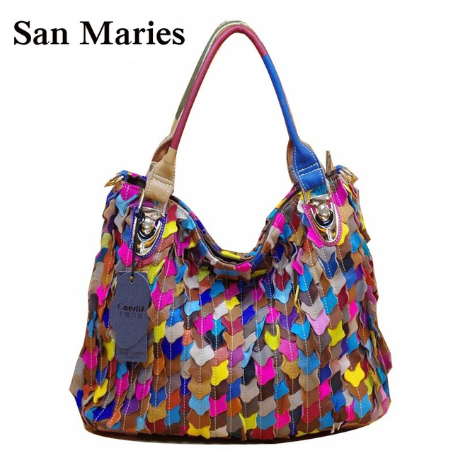 Hot Colorful Stylish OL Commuter Women Messenger Bags Ladies Tote Female  Sheepskin Handbag Factory Wholesale 06b21b6d1a126