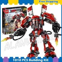 1010pcs New Ninja Fire Mech Battle Huge Robots 10720 Model Building Blocks Children Assemble Toys Bricks
