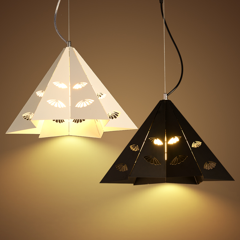 Creative Iron Triangle pendant lights personality bar living room bedroom clothing store lighting pendant lamps ZA FG328 цена