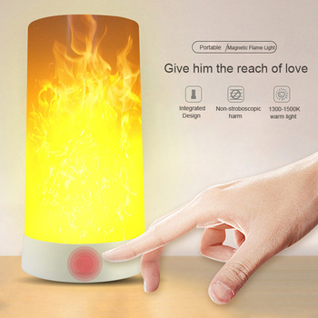 цена на LED Flame Effect Fire Light Bulb USB charged Flickering Decorative Flame Atmosphere  mood Lamp Artificial vivid fire party bar l