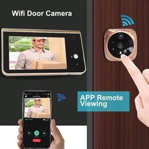 Image 3 - Video Peephole Wifi Doorbell Camera 4.3 Inch Monitor Motion Detection Door Viewer Video eye Wireless Smart Ring Intercom